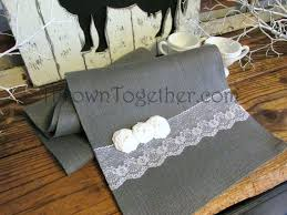 grey table runner wedding gray table runner charcoal grey runners pink and chevron wedding