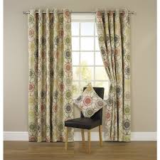 Curtains With Green Large Image Of Wilko Floral Eyelet Curtains Green 228cm X 228cm