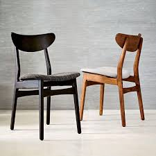 Dining Chairs Sale Uk Classic Café Upholstered Dining Chair Walnut West Elm Uk