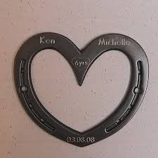 11th anniversary gifts for horseshoe wall heart 6th or 11th anniversary gift iron or steel