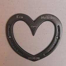 11th anniversary gift ideas horseshoe wall heart 6th or 11th anniversary gift iron or steel