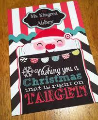printable christmas targets customized target gift card holder teacher gift teacher target