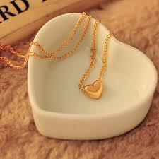 bib necklace aliexpress images New pretty gold color heart womens bib statement chain jewelry jpg