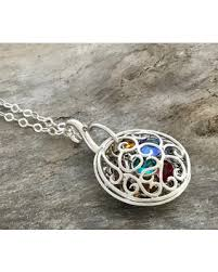birthstone mothers necklace new savings on locket grandmother locket necklace
