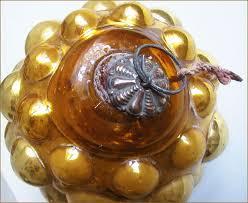 antique ornament large kugel berry shaped