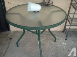 Patio Furniture Glass Table Green Patio Tables Foter
