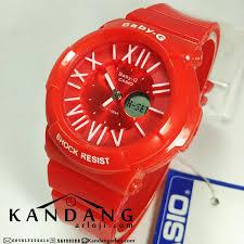 Jam Tangan Baby G Warna Merah casio baby g bga161 angka romawi warna merah cerah