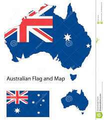 Australian Map Australian Map And Flag Royalty Free Stock Photos Image 23176618