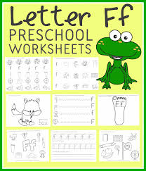 free letter f preschool worksheets instant download free
