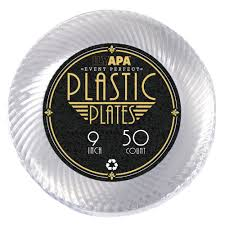 clear plastic plates 50 premium 9 inch clear plastic plates