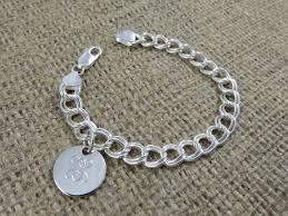 sterling silver monogram bracelet monogram bracelet monogrammed sterling silver by tiposcreations