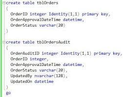 Sql Server Create Table Example Create A Simple Sql Server Trigger To Build An Audit Trail