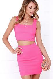hot pink dress two dress hot pink dress bodycon dress 49 00