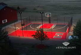 Backyard Basketball Half Court Tour Greens Michigan Backyard Multi Game Court Installations