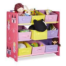 scaffali bambini relaxdays scaffale mobile per cameretta bambini legno rosa