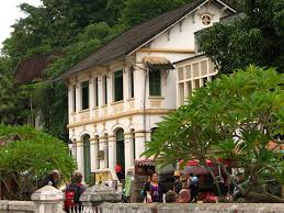 old french colonial buildings in luang prabang laos flickr