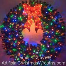60 inch color changing l e d lighted wreath