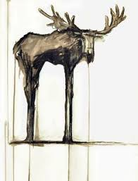 pin by linda althoff on watercolor pinterest moose watercolor