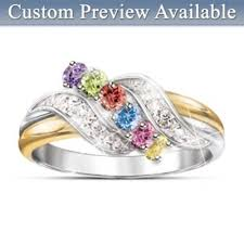mothers ring personalized birthstone ring a mothers embrace of