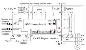 exclusive control unit for light curtain sf c10 i o circuit and