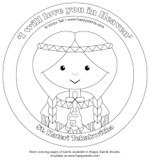 Happy Saints Coloring Pages Of St Pedro And St Kateri Saints Colouring Pages