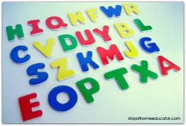 five ways to use letter manipulatives