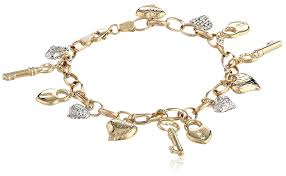 charm bracelet charms white gold images 14k yellow white gold heart lock and key link charm jpg