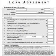 creative generic loan agreement template between friends vatansun