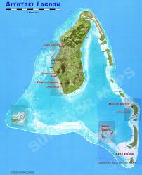 islands map survivor cook islands map