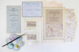 opulent swirls hand painted wedding invitation momental
