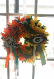 some nfl wreaths for the family to get the season started