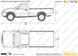 nissan trucks 2005 the blueprints com vector drawing nissan frontier regular cab 4x2