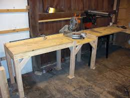 Craftsman Radial Arm Saw Table Multi Purpose Cutting Station With Miter Saw And Radial Arm Saw