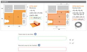 How To Measure A Kitchen For Cabinets Ditra Heat Online Calculator Schluter Com