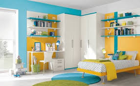 Childrens Wall Bookshelves by 37 Joyful Kids Room Design Ideas With Blue U0026 Yellow Tones