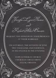 Chalkboard Wedding Program Chalkboard Wedding Invitations