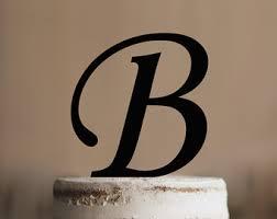 letter b cake topper etsy