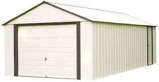Shed Overhead Door by Arrow Murryhill 12 Ft W X 24 Ft D Metal Garage Shed U0026 Reviews