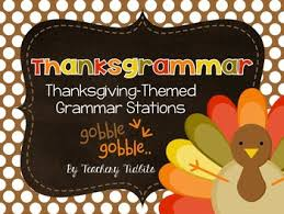 thanksgrammar thanksgiving themed grammar stations by teachery