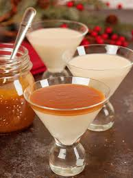 eggnog martini recipe eggnog panna cotta with caramel rum sauce u2022 mygourmetconnection