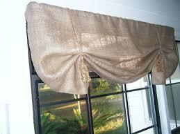 Cheap Window Valances Decor Wonderful Burlap Valance For Wondrous Window Curtain
