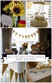 diy vintage story book baby shower lemon thistle