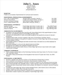 Sample Music Teacher Resume by Education Resume Template 9 Free Sample Example Format Free