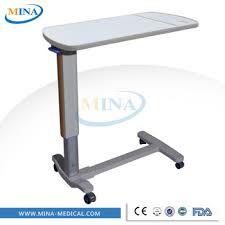 used hospital bedside tables mina cb001 abs material overbed hospital table used hospital bedside