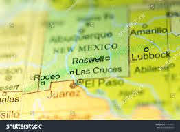 Roswell New Mexico Map by Closeup Roswell New Mexico On Political Stock Photo 371767822