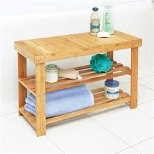 bamboo bench with shelves innovations