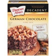 duncan hines decadent german chocolate cake mix shop cake mix