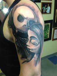 got my first tattoo yesterday custom jack and sally by jamie