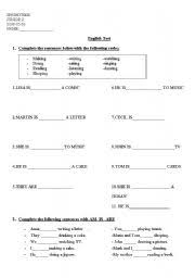 present progressive tense spanish worksheet the best and most