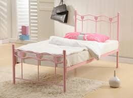 pink single metal bed frame next day delivery kids beds